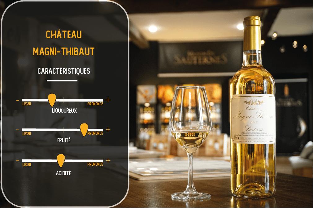 caractéristiques du vin du chateau magni-thibaut sauternes