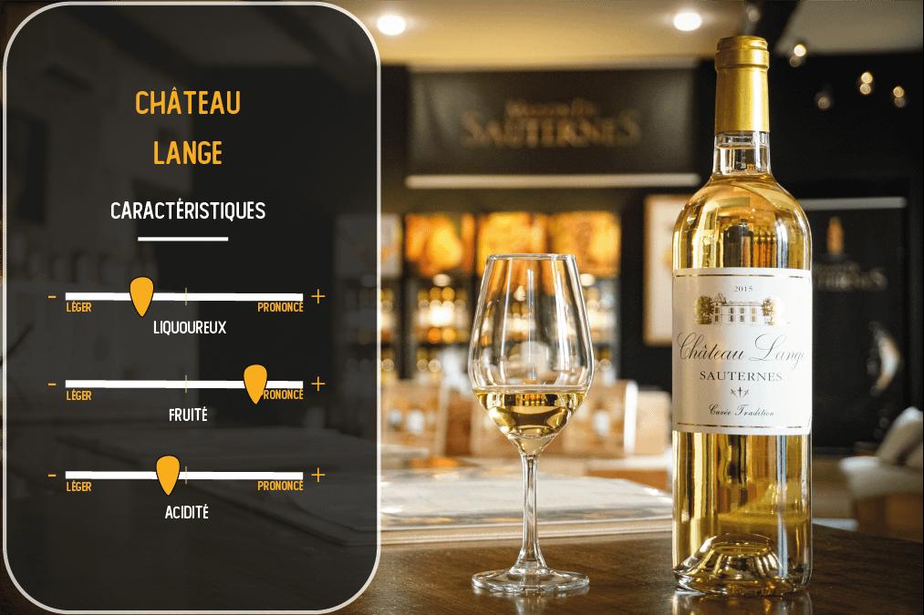 caractéristiques du vin du chateau lange sauternes