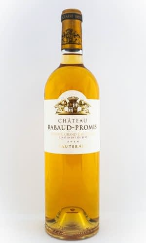 sauternes bouteille 75cl chateau rabaud-promis fond blanc
