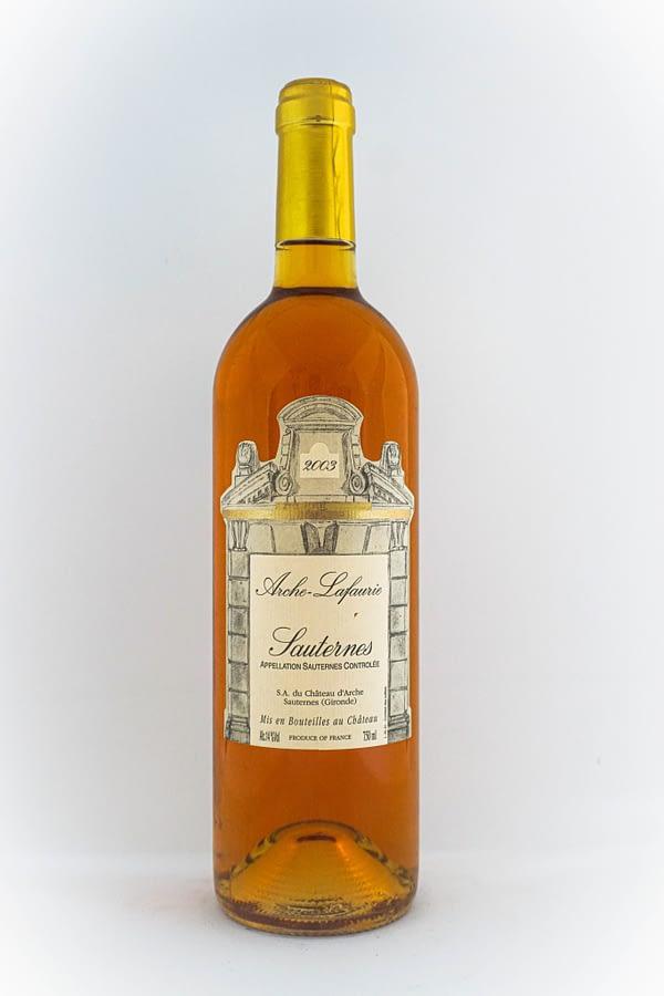 sauternes bouteille 75cl chateau arche-lafaurie fond blanc
